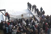 В праздник Крещения Господня архиепископ Антоний совершил Божественную литургию в Богоявленском соборе г. Орла. 19 января 2012 г.