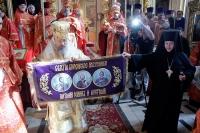 В день своего тезоименитства архиепископ Антоний совершил литургию в Ахтырском кафедральном соборе. 27 апреля 2012 г.