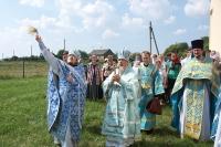 Архиепископ Антоний совершил великое освящение Казанского храма с. Кологривово Новодеревеньковского района. 7 августа 2012 г.