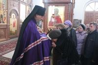В день памяти 40 мучеников Севастийских архиепископ Антоний совершил Божественную литургию в Свято-Успенском монастыре. 22 марта 2012 г.