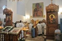Архиепископ Орловский и Ливенский Антоний совершил Божественную литургию в Смоленском храме города Орла. 13 января 2013 г.