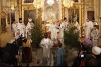 Архиерейское служение в праздник Рождества Христова в Ахтырском кафедральном соборе г. Орла. 7 января 2013 г.