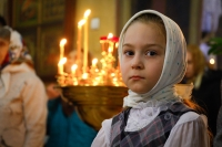 В Неделю 25-ю по Пятидесятнице, день памяти святителя Иоанна Златоуста, митрополит Орловский и Болховский Антоний совершил Божественную литургию в Свято-Иоанно-Крестительском храме Орла. 26 ноября 2017 г.