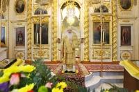 В день памяти святителя Иннокентия Московского вАхтырском кафедральном соборе Орла митрополит Орловский иБолховский Тихон совершил Божественную литургию. 6 октября 2019 г.