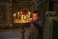 В Неделю 20-ю по Пятидесятнице митрополит Орловский и Болховский Тихон совершил литургию в Ахтырском кафедральном соборе Орла. 3 ноября 2019 г.