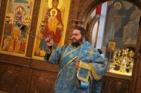 В праздник Казанской иконы Божией Матери митрополит Орловский и Болховский Тихон совершил литургию в Свято-Успенском монастыре Орла. 4 ноября 2019 г.