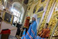 В праздник Воздвижения митрополит Орловский и Болховский Антоний совершил литургию в Ахтырском соборе Орла. 27 сентября 2018 г.