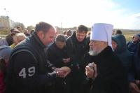 Жители микрорайона «Зареченский» в Орле молились о начале строительства нового храма. 21 октября 2018 г.