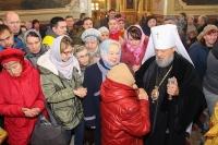 В Неделю 24-ю по Пятидесятнице митрополит Орловский и Болховский Антоний совершил литургию в Ахтырском кафедральном соборе Орла. 11 ноября 2018 г.