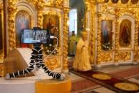 В Неделю 25-ю по Пятидесятнице, день в памяти святого Патриарха Тихона митрополит Орловский и Болховский Антоний совершил Божественную литургию в Богоявленском соборе Орла. 18 ноября 2018 г.