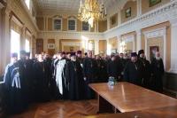 Состоялось ежегодное годовое отчетное собрание духовенства, председателей отделов и сотрудников Орловской епархии за 2018 года. 29 ноября 2018 г.