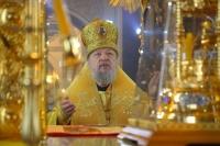 В Неделю 27-ю по Пятидесятнице митрополит Орловский и Болховский Антоний возглавил литургию в Ахтырском кафедральном соборе. 2 декабря 2018 г.