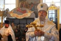 В канун Рождества Христова митрополит Орловский и Болховский Антоний совершил богослужение Царских часов в Ахтырском соборе. 4 января 2019 г.