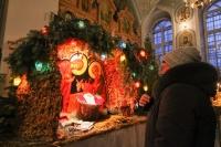 В праздник Рождества Христова митрополит Орловский и Болховский Антоний в сослужении епископа Мценского Алексия в Успенском (Михаило-Архангельском) соборе Орла совершил великую вечерню. 7 января 2019 г.
