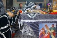 В Великую Среду митрополит Орловский и Болховский Антоний совершил Божественную литургию Преждеосвященных Даров в Ахтырском кафедральном соборе Орла. 4 апреля 2018 г.