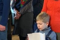 В храме мучениц Веры, Надежды, Любови и матери их Софии в микрорайоне «Зареченский» в Орле состоялась первая Божественная литургия с общенародным пением. 1 декабря 2019 г.