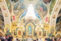 В праздник Крещения Господня митрополит Орловский и Болховский Тихон совершил Божественную литургию и чин великого освящения воды в Богоявленском соборе города Орла. 19 января 2020 г.