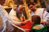 В попразднство Рождества Христова митрополит Орловский и Болховский Тихон совершил литургию в Христорождественском храме Болхова. 8 января 2020 г.