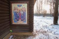В Неделю омытаре ифарисее, Собор новомучеников иисповедников Церкви Русской, митрополит Орловский иБолховский Тихон совершил литургию в скиту Новомучеников и исповедников Российских в Орле. 9 февраля 2020 г.