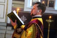 Накануне дня памяти святой Ксении Петербургской митрополит Тихон возглавил всенощное бдение в Ахтырском кафедральном соборе города Орла. 5 февраля 2020 г.