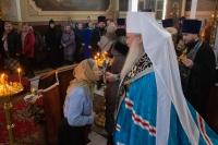 Митрополит Орловский и Болховский Тихон совершил вечерню счином прощения в Ахтырском кафедральном соборе Орла. 1 марта 2020 г.