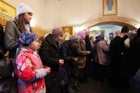 Митрополит Орловский и Болховский Тихон совершил литургию в храме иконы Божией Матери «Знамение» Курская-Коренная города Орла в день его престольного праздника. 21 марта 2020 г.