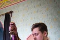В Неделю 3-ю Великого поста, Крестопоклонную, митрополит Орловский и Болховский Тихон совершил Литургию в храме Рождества Христова с. Путимец Орловского района. 22 марта 2020 г.