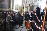 Митрополит Орловский и Болховский Симон совершил в Ахтырском кафедральном соборе Орла первую в 2019 году литургию Преждеосвященных Даров. 13 марта 2019 г.