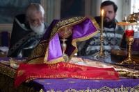 Митрополит Орловский и Болховский Тихон совершил в Ахтырском кафедральном соборе Орла первую в 2020 году литургию Преждеосвященных Даров. 4 марта 2020 г.