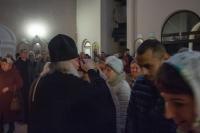 Накануне праздника обретения мощей св. Матроны Московской митрополит Орловский иБолховский Тихон возглавил всенощное бдение вхраме святой  Матроны Московской г. Орла. 6 марта 2020 г.