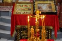 В 75-ю годовщину Победы в Великой Отечественной войне в Ахтырском кафедральном соборе Орла митрополит Орловский и Болховский Тихон совершил литургию и молитвенное поминовение павших. 9 мая 2020 г.