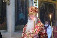 В канун Недели 5-й по Пасхе митрополит Орловский и Болховский Тихон совершил всенощное бдение в Свято-Троицком храме города Орла. 16 мая 2020 г.