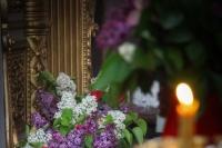 В канун Недели 6-й по Пасхе митрополит Орловский и Болховский Тихон возглавил всенощное бдение в Ахтырском кафедральном соборе Орла. 23 мая 2020 г.