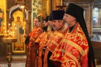 В канун отдания праздника Пасхи митрополит Орловский и Болховский Тихон совершил всенощное бдение в Свято-Успенском мужском монастыре Орла. 26 мая 2020 г.