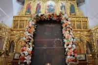 В праздник Балыкинской иконы Божией Матери митрополит Орловский и Болховский Тихон совершил Литургию в Свято-Введенском женском монастыре Орла. 13 июля 2020 г.