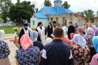 В деревне Арбузово Кромского района заложен камень в основание строительства  храма Казанской иконы Божией Матери. 16 июля 2018 г.