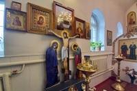 В Неделю 19-ю по Пятидесятнице митрополит Орловский и Болховский Тихон совершил Литургию в Покровском храме п. Шаблыкино. 18 октября 2020 г.