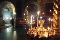 В канун Недели 20-й по Пятидесятнице митрополит Орловский и Болховский Тихон совершил всенощное бдение в Ахтырском кафедральном соборе Орла. 24 октября 2020 г.