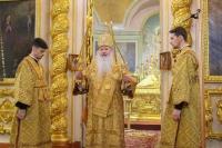 В Недели 20-ю по Пятидесятнице митрополит Орловский и Болховский Тихон совершил Литургию в Ахтырском кафедральном соборе Орла. 25 октября 2020 г.