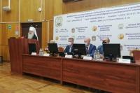 Митрополит Тихон напутствовал нового ректора ОГАУ Владимира Масалова. 2 ноября 2020 г.