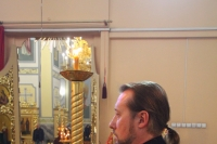 В канун Недели 22-й по Пятидесятнице, дня памяти вмч. Димитрия Солунского, митрополит Орловский и Болховский Тихон возглавил всенощное бдение в храме Смоленской иконы Божией Матери города Орла. 7 ноября 2020 г.