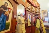 В день памяти святителя Спиридона Тримифунтского митрополит Орловский и Болховский Тихон совершил Литургию в храме свт. Спиридона Тримифунтского в поселке Спицыно Орловского района. 25 декабря 2020 г.
