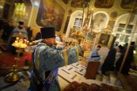 В канун праздника Введения во храм Пресвятой Богородицы митрополит Орловский и Болховский Тихон возглавил всенощное бдение в Ахтырском кафедральном соборе Орла. 3 декабря 2020 г.