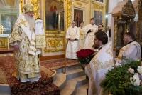 В день памяти свт. Феофана Затворника митрополит Орловский и Болховский Тихон возглавил Божественную литургию в Ахтырском кафедральном соборе Орла. 23 января 2021 г.