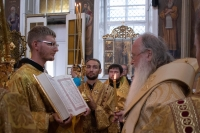 В Неделю 7-ю по Пятидесятнице митрополит Тихон совершил богослужения в Ахтырском кафедральном соборе. 7-8 августа 2021 г.