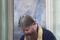 В канун празднования Собора Орловских святых, митрополит Орловский и Болховский Тихон возглавил всенощное бдение в Ахтырском кафедральном соборе города Орла. 7 сентября 2021 г.