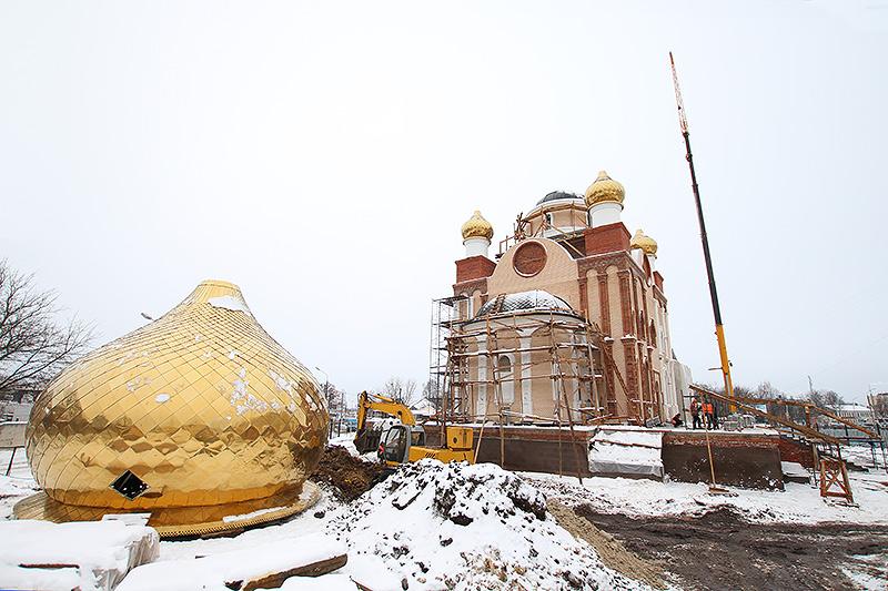 Торжественная церемония освящения крестов и колоколов состоится в строящемся храме на Наугорском шоссе 14 декабря