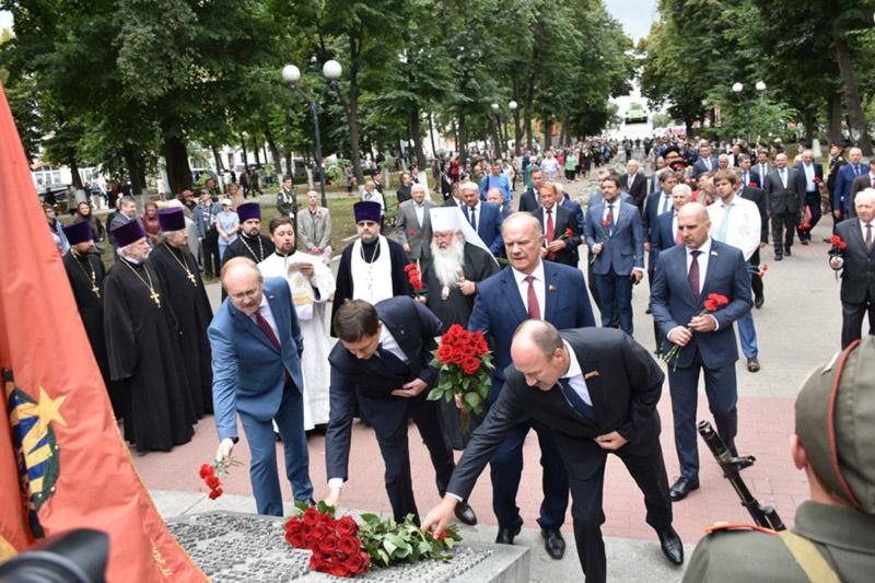 Орловское духовенство приняло участие в торжествах в честь 76-летия освобождения Орловской области от немецко-фашистских захватчиков