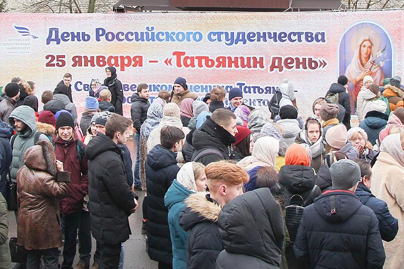 Храм Смоленской иконы Божией Матери стал центром празднования Дня российского студенчества